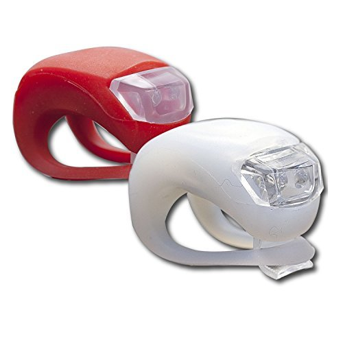 Bike Light - Super Bright Strap Release Design Bike Flash Light Kits Set for Front and Rear Bike light