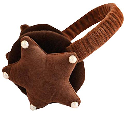 Pink Black Temptation Winter Warm Earmuffs Can Be Adjusted Cute Five-Pointed Star Earmuffs