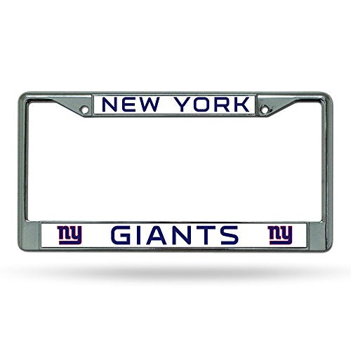 Rico Industries NFL New York Giants Standard Chrome License Plate Frame