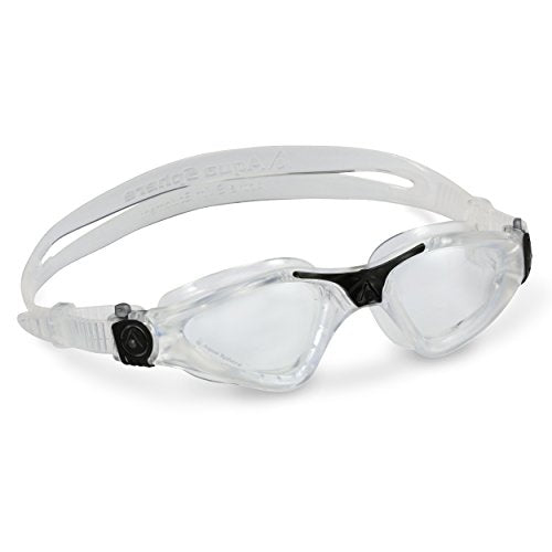 Aqua Sphere Kayenne Swim Goggles with Clear Lens (Clear/Black)