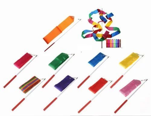 SunbowStar Gymnastic Ribbon 2M GYM Dance Rythemic Twirling Exercise Art Rod Stick 10pcs (10 Colors)