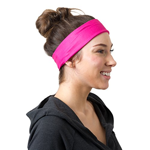 RiptGear Headband 2Pack - Pink Solid and Striped
