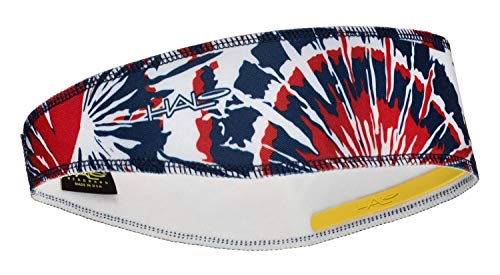 Halo Headbands Halo II Sweatband Pullover, Red White & Blue Tie Dye