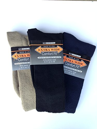 Extra Wide Comfort Athletic Crew (Variety, Medium Gray Label)