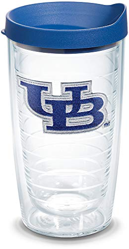 Tervis 1059161 Buffalo Bulls Logo Tumbler with Emblem and Blue Lid 16oz, Clear