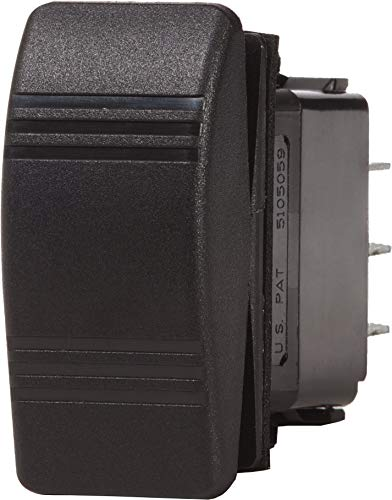 Blue Sea Systems Contura OFF-(ON) SPST Switch, Black