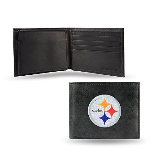 NFL Pittsburgh Steelers Embroidered Leather Billfold Wallet