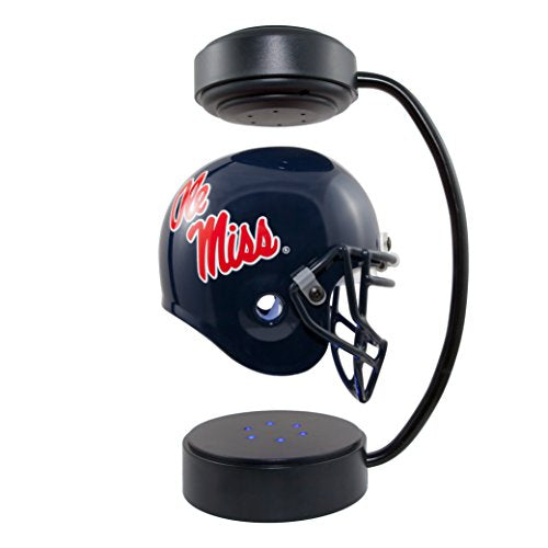 Ole Miss Rebels NCAA Hover Helmet - Collectible Levitating Football Helmet with Electromagnetic Stand