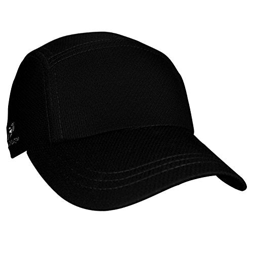 Headsweats Performance Race Running/Outdoor Sports Hat, Black, One Size Fits All