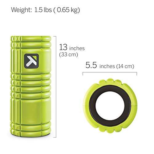 Trigger Point Grid Foam Roller With Free Online Instructional Videos, Original (13 Inch), Lime