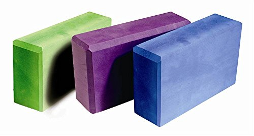 Aeromat Yoga Block, 3 x 9 Inches, Blue