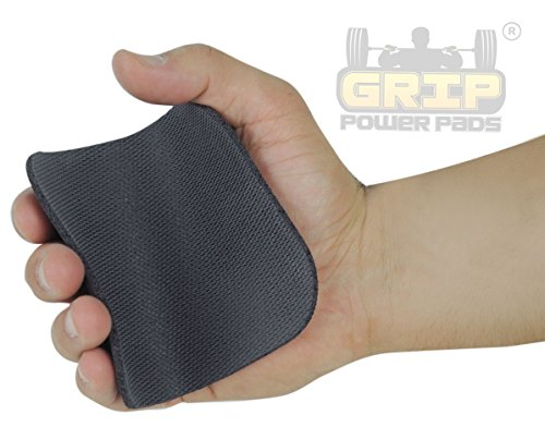 Grip Power Pads Rubber Lifting GripsGym Doesn't Allow Chalk Try Alternative to Lifting Chalk & Gym Leather Gloves. Best & Inexpensive Way to Safe Your Hands Secure Your Grip.