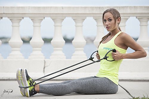 Dynapro Exercise Resistance Bands â?? Comfort Handles, Professional Quality, Black Is Not Adjustable