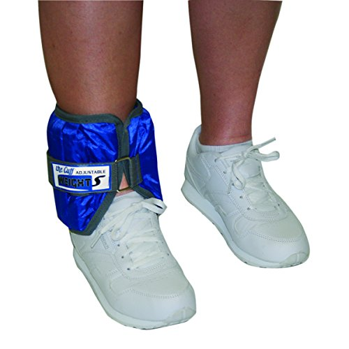 CanDo Adjustable Ankle Weight, Blue, 10 Pound