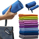 "Image of Microfiber Travel Towel, XL 30x60"" - FREE Fast Dry Hand Towel - Our Super Absorbent Dry Towel is So Soft, Lightweight and Compact - Great for Camping, Gym or a Beach Towel, Includes Handy Carry Bag"