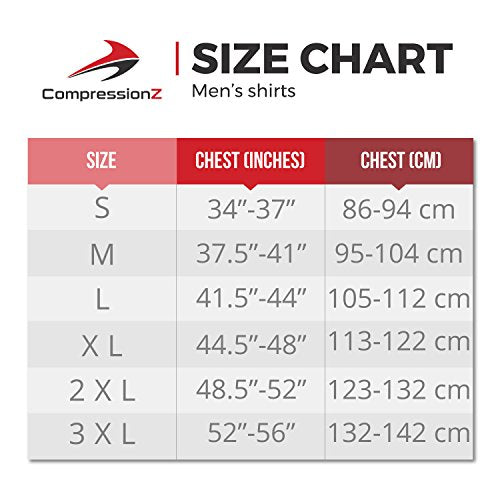 CompressionZ Mens Quick Dry Compression Long Sleeve Shirt - S, White