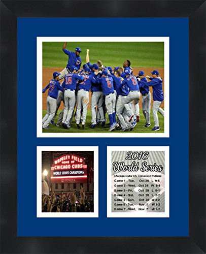 Frames By Mail Tp04 06 00 Cubs20166 Chicago World Series Collage Photo, 11 X 14, Blue