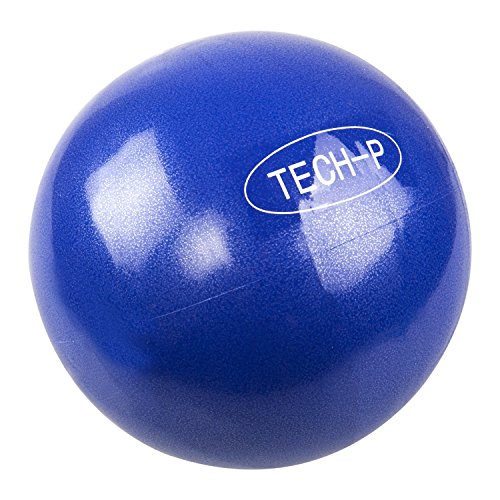 TECH-P Pilates Mini Exercise Ball - 8 Inch (Inflated) Stability Ball for Pilates, Yoga, Training and Physical Therapy-2 Pack