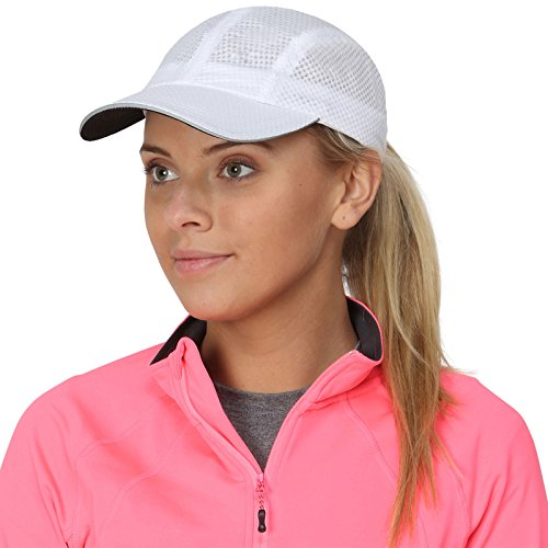 Trail Heads Race Day Performance Running Cap | The Lightweight, Quick Dry, Sport Cap For Women   Whit