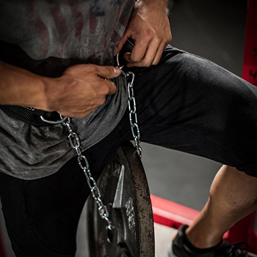 Harbinger Polypropylene Dip Belt with Steel Chain, Black
