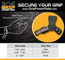 Image of Lifting Grips PRO Weight Lifting Gloves Heavy Duty Straps Alternative to Power Hooks Deadlifts Adjustable Neoprene Padded Wrist Wrap