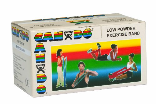 CanDo Low Powder Exercise Band, 6 yard Roll, Tan: XX-Light