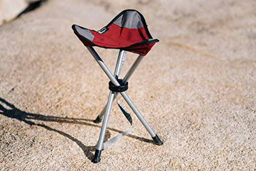 TravelChair Slacker Chair, Tripod Stool, Black