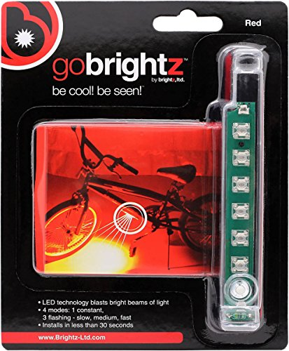 Brightz GoBrightz LED Bicycle Frame Accessory Light, Red