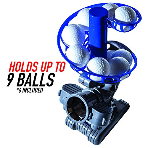 Franklin Sports MLB Electronic Baseball Pitching Machine - Height Adjustable - Ball Pitches Every 7 Seconds - Includes 6 Plastic Baseballs