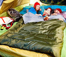 Image of Sleepingo Double Sleeping Bag For Backpacking, Camping, Or Hiking, Queen Size Xl! Cold Weather 2 Per