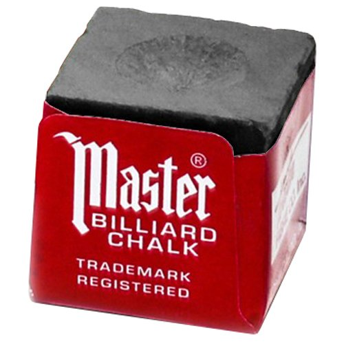 Master Billiard/Pool Cue Chalk Box, 12 Cubes, Grey