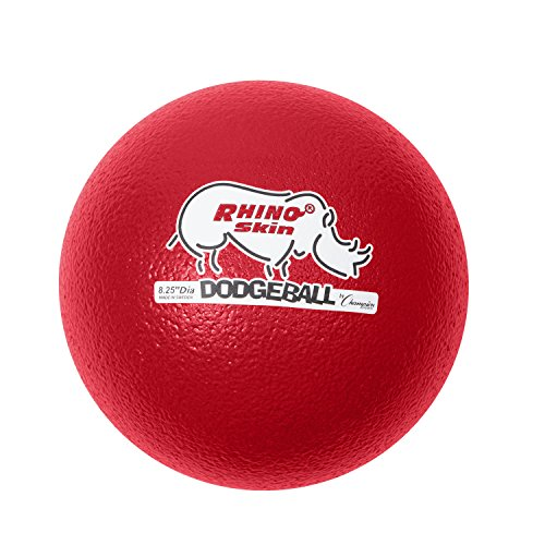 Champion Sports Rhino Skin Dodgeballs: 8 Inch Balls for Playground, PE, Backyard & League Games - Team Sports Equipment for Kids and Adults - Set of 6