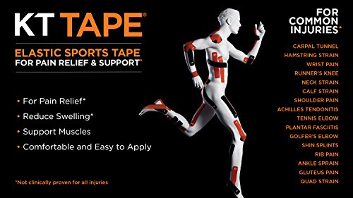 KT Tape PRO Synthetic Elastic Kinesiology Therapeutic Tape, Jumbo 150 Precut 10 Inch Strips, Winner Green