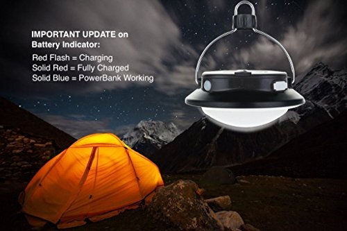 SUBOOS Gen 2 Ultimate Rechargeable Camping Light and 5200mAh USB Powerbank - (Black)