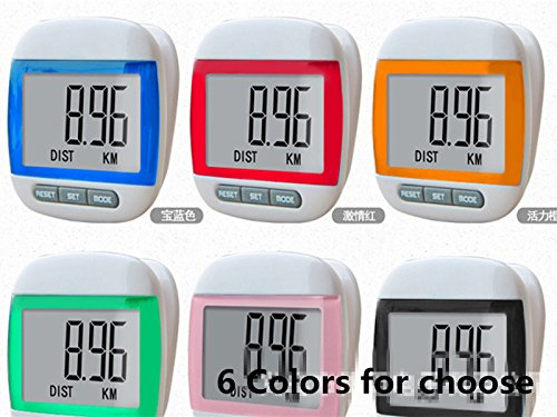 Healthy Care 667 Multi-function Pocket Pedometer Step Counter(Green)