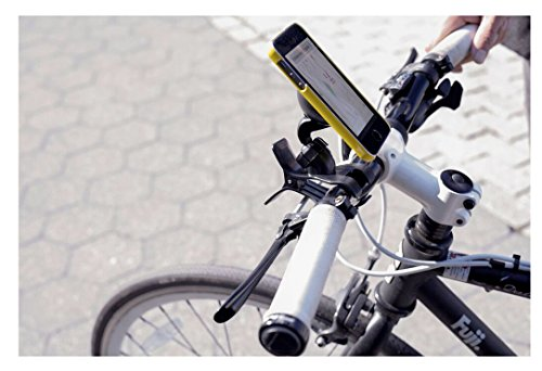 Kikkerland Bike Phone Holder, Black