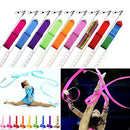 Image of SunbowStar Gymnastic Ribbon 2M GYM Dance Rythemic Twirling Exercise Art Rod Stick 10pcs (10 Colors)