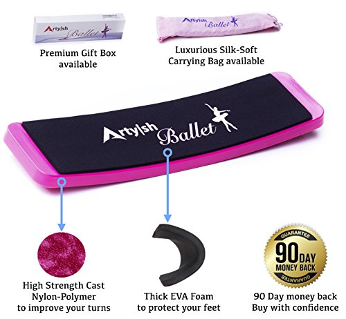 Artyish Turning Board for Ballet Dance |  Pirouettes Board for Dancers | Improve Balance and Turns | Training Practicing Tool-Purple