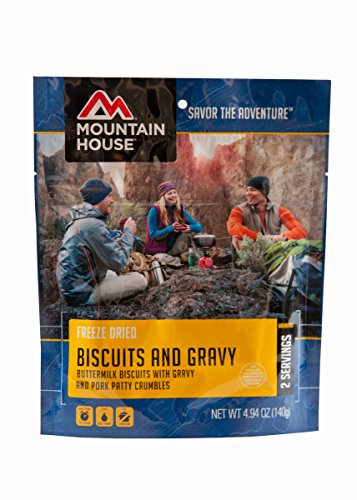 Mountain House Biscuits and Gravy, 4.94 oz, Pouch