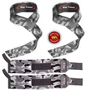 Image of Rip Toned Lifting Straps + Wrist Wraps Bundle (1 Pair of Each) by Bonus Ebook for Weightlifting, Xfit, Workout, Gym, Powerlifting, Bodybuilding - Lifetime Replacement Warranty! (Gray Camo)