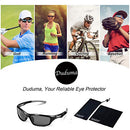 Image of Duduma Polarized Sports Sunglasses for Running Cycling Fishing Golf Tr90 Unbreakable Frame (Black/Black)