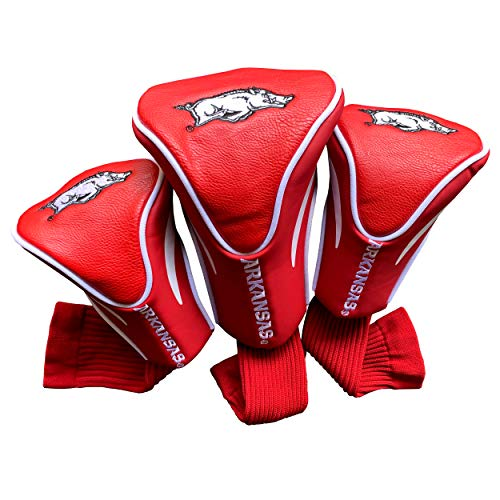 Team Golf Ncaa Arkansas Razorbacks 3 Pack Contour Headcover,White