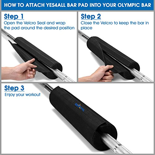 Yes4 All Foam Bar Pad â?? Olympic Barbell Pad â?? Barbell Squat Pad â?? Barbell Neck Pad For Squats,