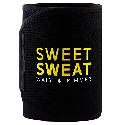 Sports Research Sweet Sweat Premium Waist Trimmer, for Men & Women. Includes Free Sample of Sweet Sweat Gel! (Small)