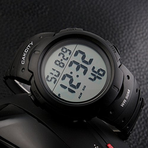 Cak City Mens Digital Sports Watch Led Screen Large Face Military Watches For Men Waterproof Casual L