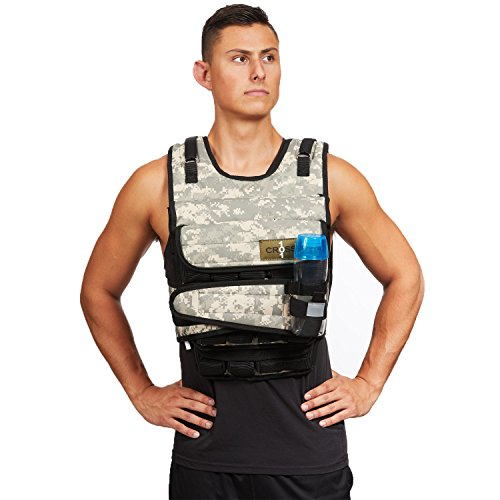 CROSS101 Weighted Vest 20lbs - 80lbs with Shoulder Pads Option (80LBS Without S.P.)