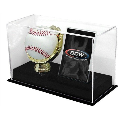 BCW 1-AD-BC Acrylic Gold Glove Ball and Card Display