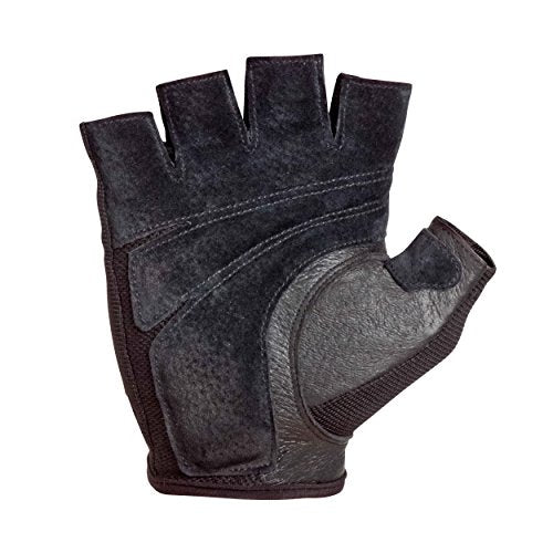 Harbinger Power Non-Wristwrap Weightlifting Gloves with StretchBack Mesh and Leather Palm (Pair), Black, Medium (Fits 7.5 - 8 Inches)
