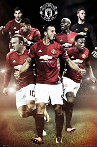 "POSTER STOP ONLINE Manchester United - Soccer Poster/Print (Ibrahimovic - Season 2016/2017) (Size: 24"" x 36"")"