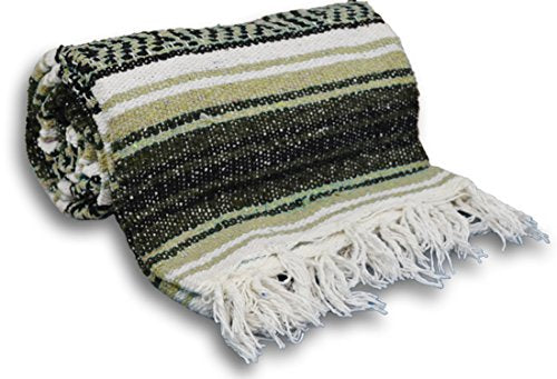 YogaAccessories Traditional Mexican Yoga Blanket ( Light Brown)
